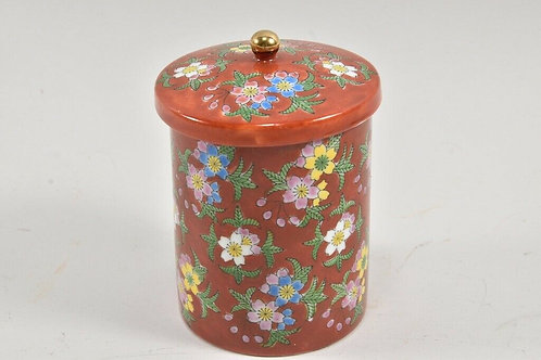 Ceramic Lidded Pot - Asian Orient