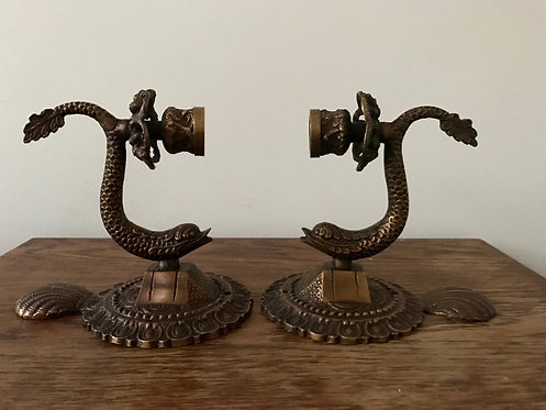 Brass Ornate Sconces