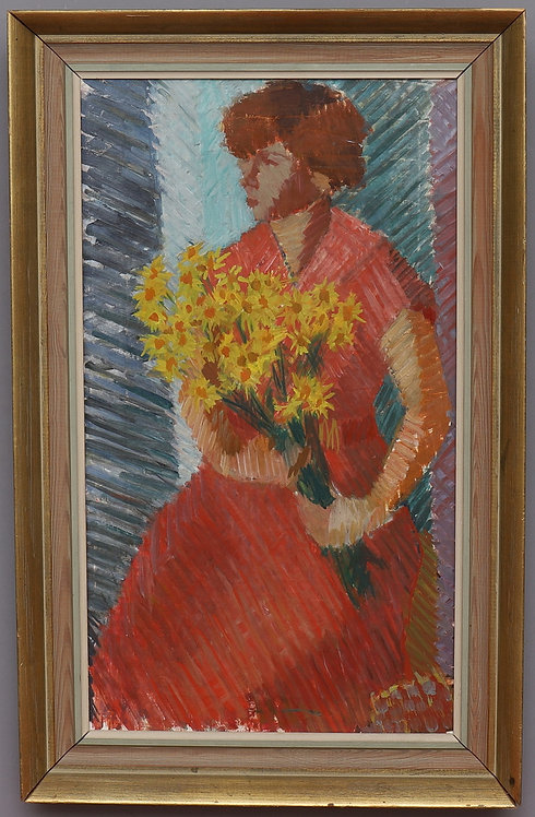 Women with Bouquet, Alf Olsson