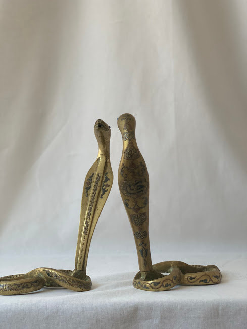 Pair of Brass Snakes
