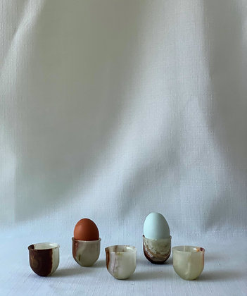 Set of Five Onyx Egg Cups