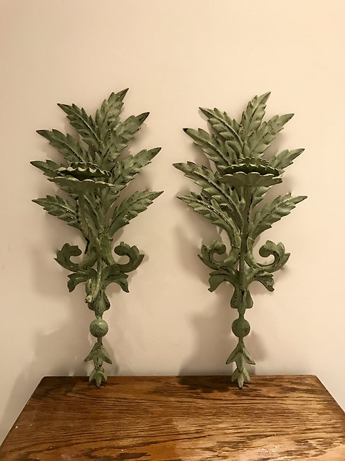 Pair of ornate sconces