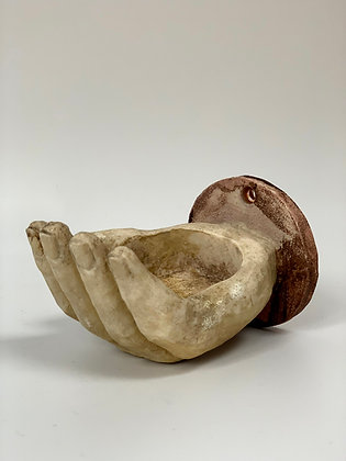 Ceramic Hand Tea Light Holder