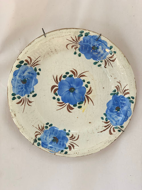 19th Century Hand Painted Wall Plate