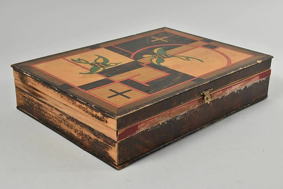 1930s Wooden Box, Agfa Advertising