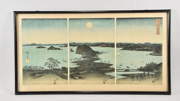 Japanese Framed Colour Print