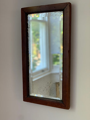 Victorian Oak Mirror