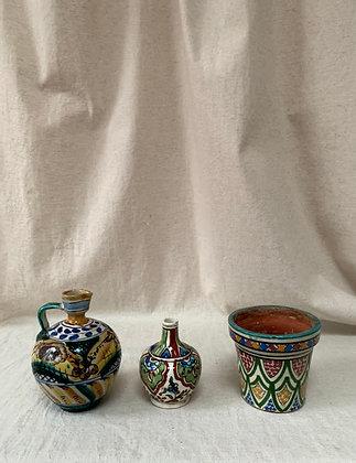 Trio of Vintage Spanish Ceramic