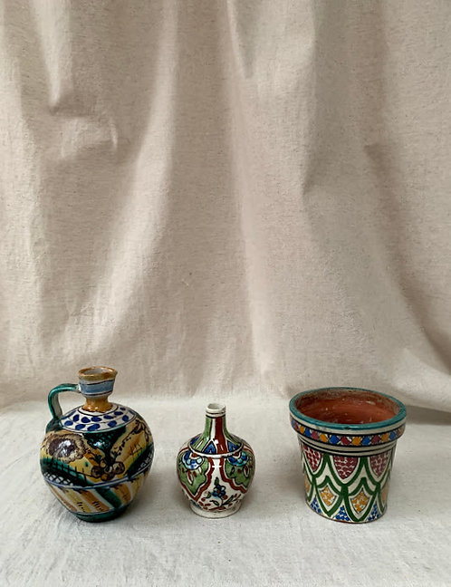 Trio of Vintage Spanish Ceramic