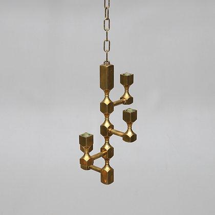 Brass Chandelier, Probably Metallslöjden