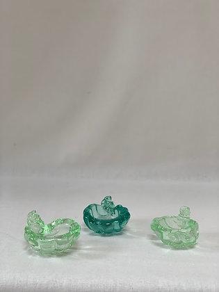 Set of Three Murano Shell Pinch Pots