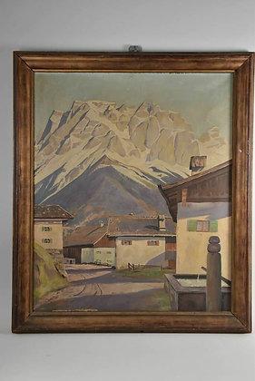1930s Framed Oils Painting