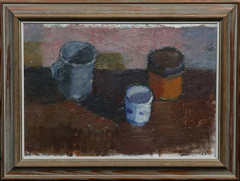 Still Life, Framed Oil, Swedish 20th Century