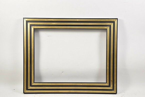 20th Century Wooden Frame, Partially Gilded