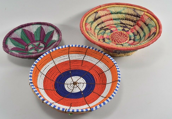 Set of Three 1970s Bowls