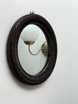 Late 19th Century Carved Oval Mirror