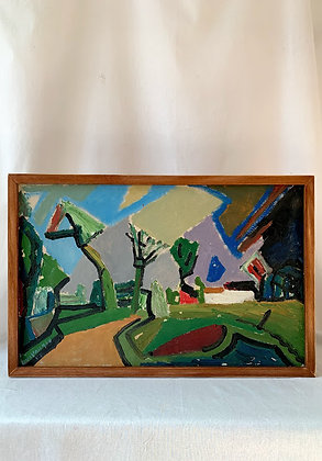 Landscape by Uno Vallman (Swedish, 1913–2004)