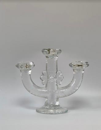 Pukeberg Glass Candlestick , Swedish