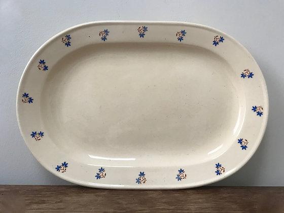 Annaburg antique plate cream white with flowers