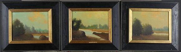 Set of Three Framed Oil Paintings, by ANGELO VON FÜRSTEN