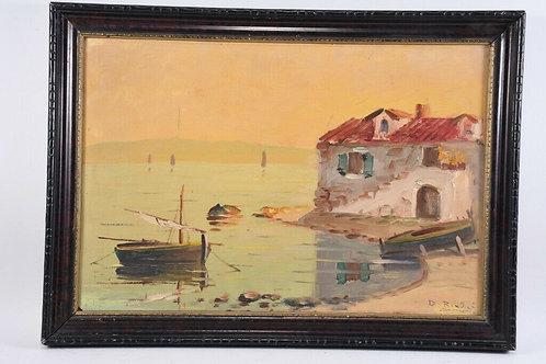20th Century Oil Painting, Framed