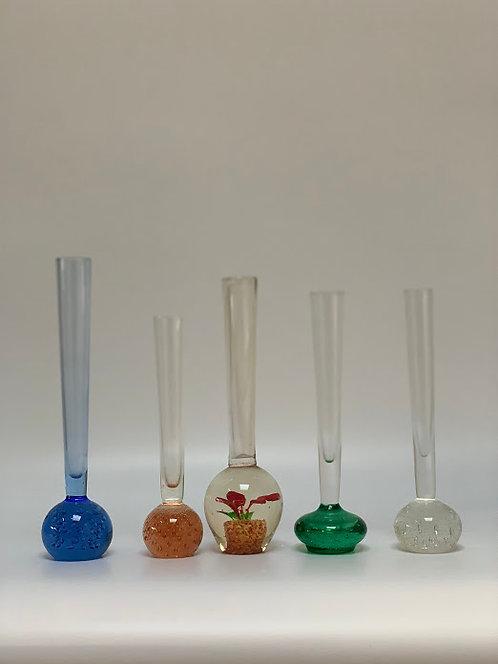 Set of Five Stem Vases 1960s