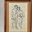 Thumbnail: Vintage Framed Sketch, 1958