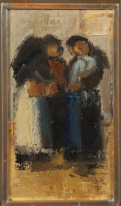 """""""Women Cyprus"""", oil on canvas, signed"""