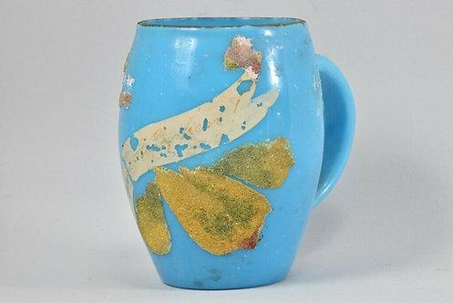 19th Century Glass with Enamel Mug