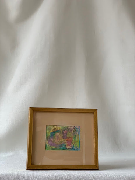 Small Framed Pastel by Lars Herder