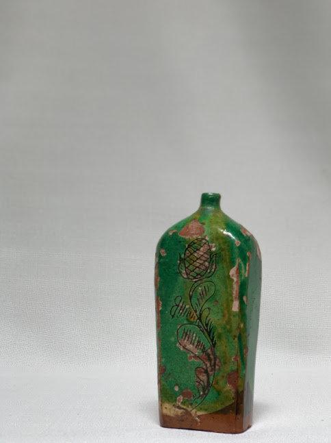 19th Century Hungarian Ceramic Flask