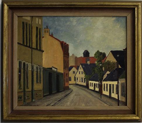 Swedish Framed Oil Painting