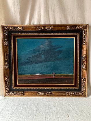 Framed Oil on Panel, 20th Century