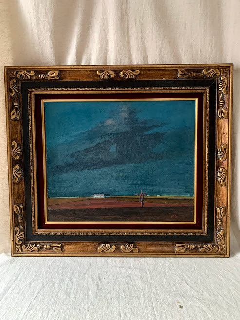 Framed Oil on Panel, 20th Century