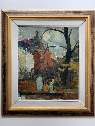 Framed Oil by H. ROSENQVIST, German