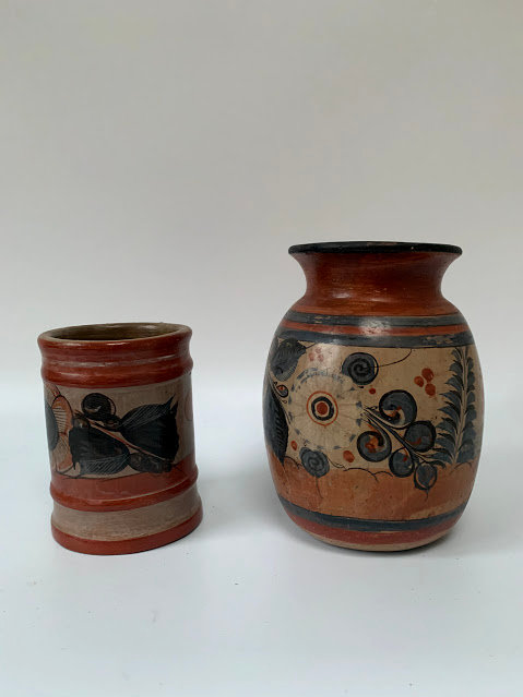 Set of Two German Ceramics, Pot & Vase