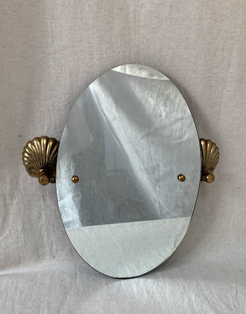 Brass Shell Mirror From The 70s