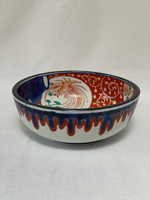Oriental Enamelled Bowl with Rich Imari Colours