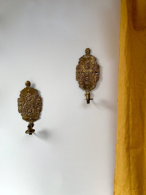 Pair of Small Swedish Sconces, late 19th Century.