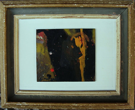 Framed Abstract Composition by Leif Mattsson