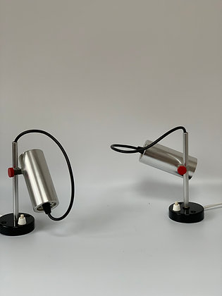Pair Of Mid Century Wall / Spot / Desk Lamps.
