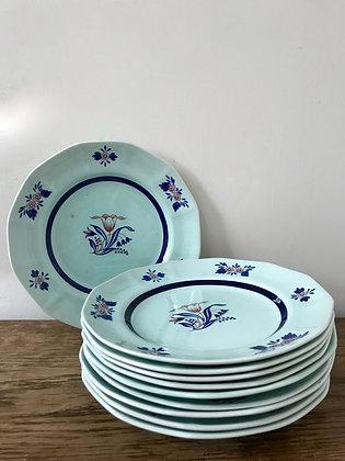 10 x Adams Calyx Ware Plates