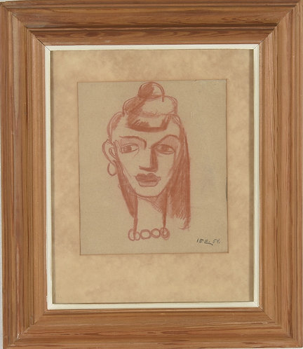 Red Chalk Drawing, Unknown Artist, 20th Century
