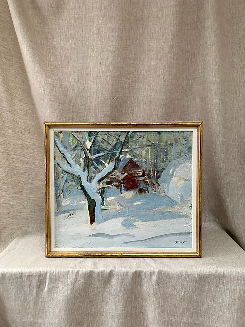 Winter Cottage, by Oskar Wickström