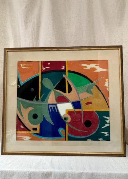 Framed Pastel on Paper