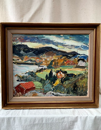 Framed Oil Painting, 1942, Unknown Artist