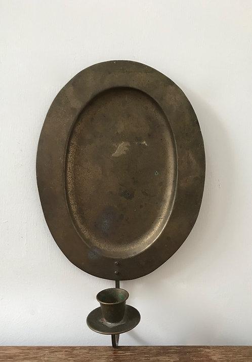 Simple Brass Oval Sconce