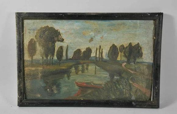 Early 20th Century, European Oil, Framed
