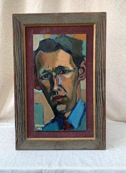 Framed Oil Portrait by Gustav Ivar Ekelund