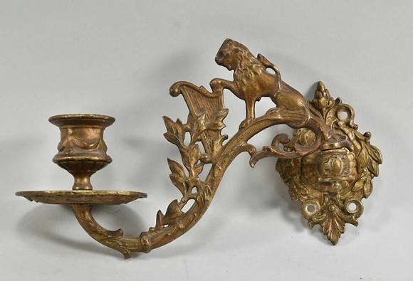 Late 19th Century German Sconce, Brass